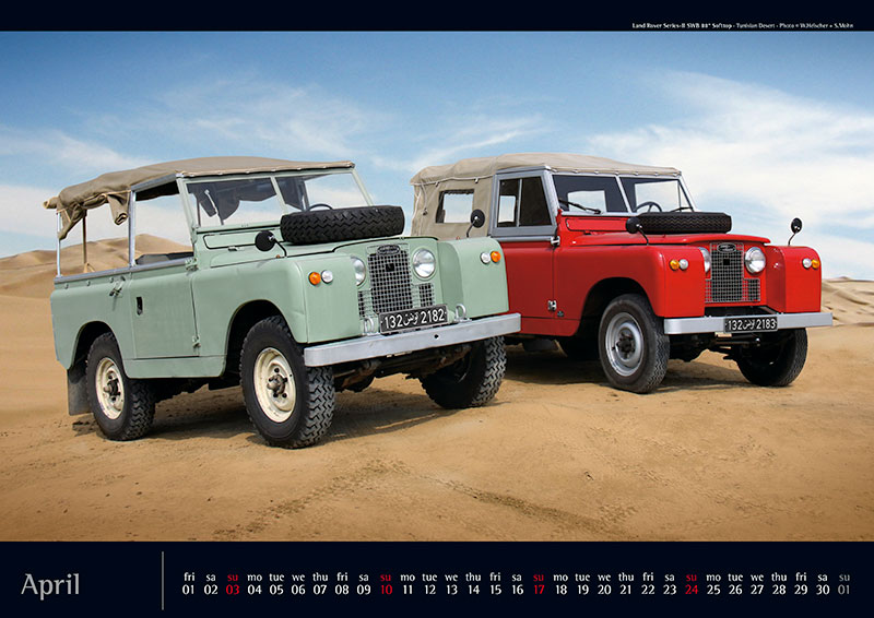 Landy Kalender 2016 Land Rover Defender Landrover Allrad ...
